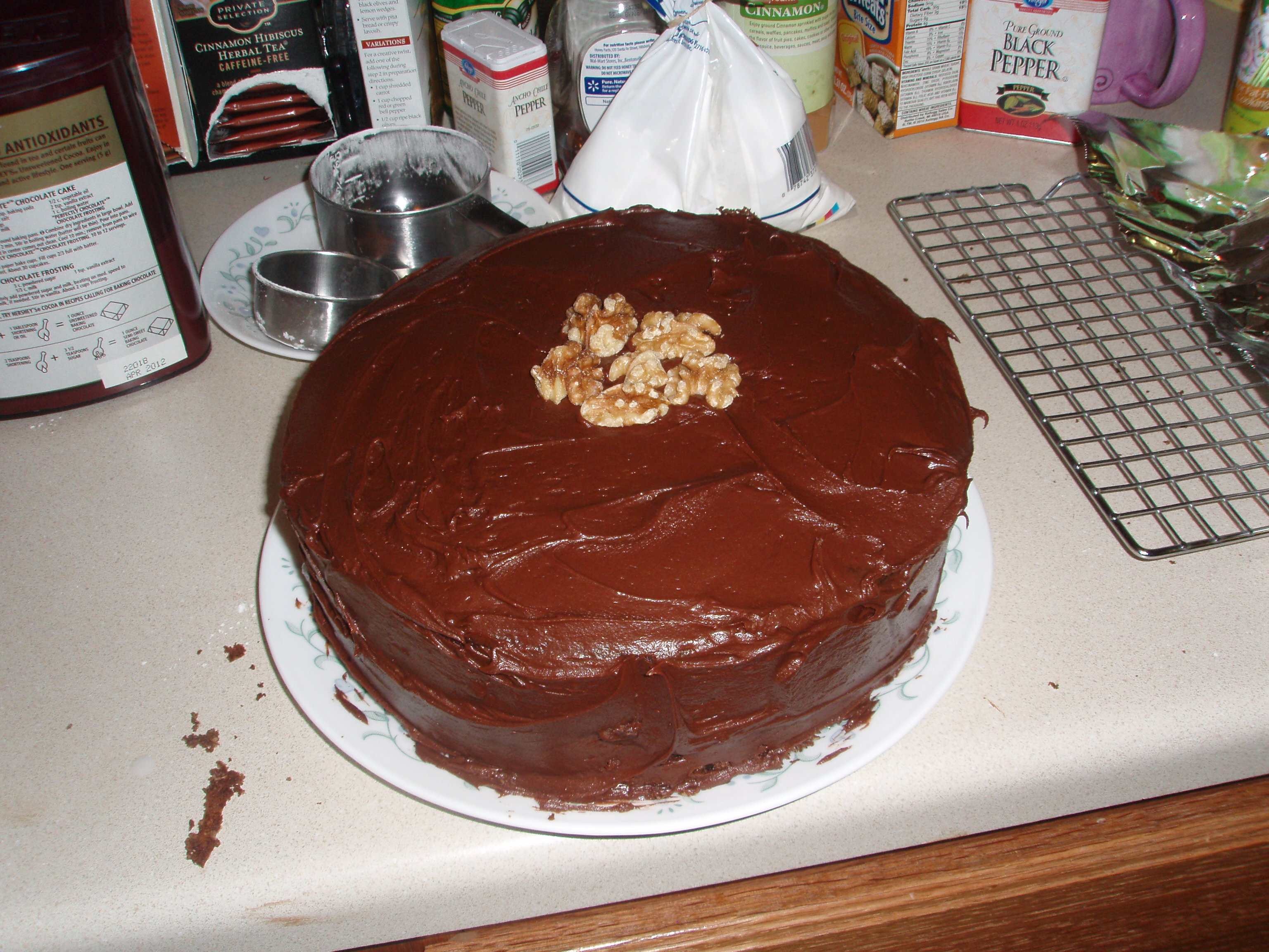 ... perfectly chocolate cake with hershey s perfectly chocolate frosting